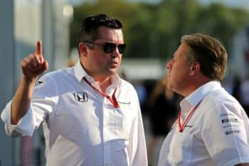 Eric Boullier and Zak Brown